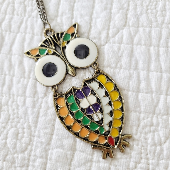 Francesca's Collections Jewelry - 7/4/20 OWL NECKLACE
